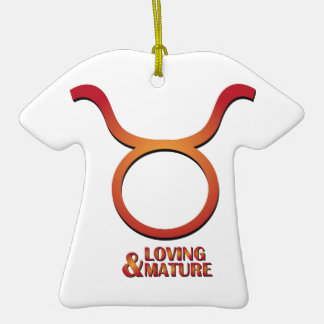 Loving & Mature Double-Sided T-Shirt Ceramic Christmas Ornament