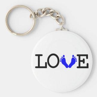 Loving Me Some Babies - Blue Keychain