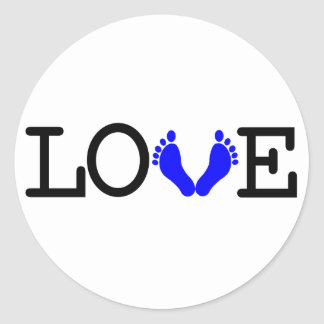 Loving Me Some Babies - Blue Classic Round Sticker