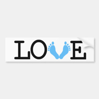 Loving Me Some Babies - Light Blue Bumper Sticker
