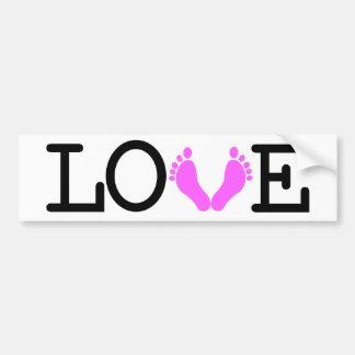 Loving Me Some Babies - Pink Bumper Sticker