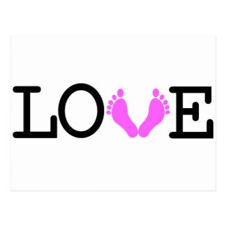 Loving Me Some Babies - Pink Postcard