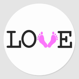 Loving Me Some Babies - Pink Classic Round Sticker