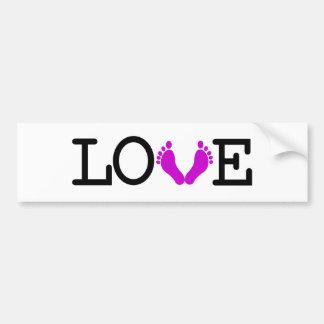 Loving Me Some Babies - Purple Bumper Sticker