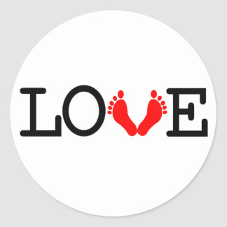 Loving Me Some Babies - Red Classic Round Sticker