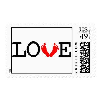Loving Me Some Babies - Red Postage Stamp