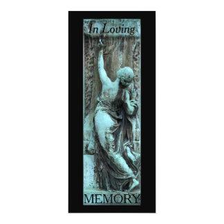 Loving Memory Funerary Art 3 Celebration of Life Card