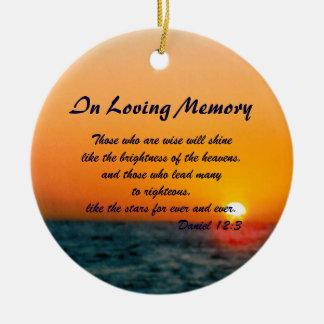 Loving Memory Memorial Christmas Sunset Ornament
