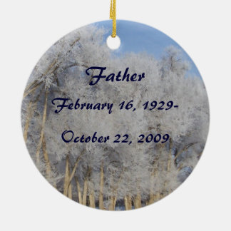 Loving Memory Memorial Pogonip Ice on Trees Daniel Christmas Tree Ornaments