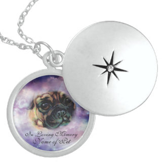 Loving Memory Pet Sterling Silver Locket Necklace