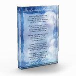 Loving Memory Prayer Acrylic Award