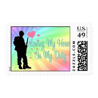 Loving My Hero Is My Duty Postage Stamp