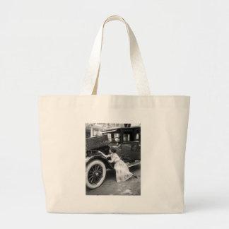 Loving My Old Car, 1920s Canvas Bag