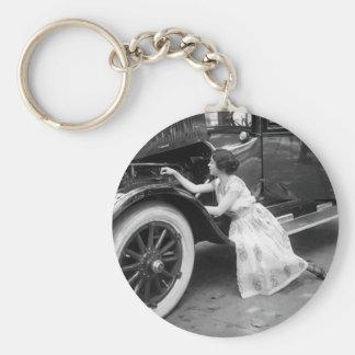 Loving My Old Car, 1920s Basic Round Button Keychain