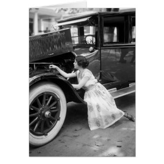 Loving My Old Car, 1920s Card