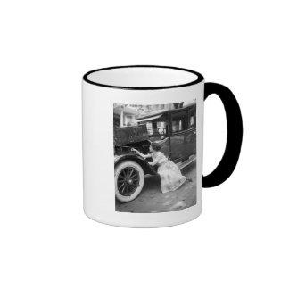 Loving My Old Car, 1920s Ringer Mug