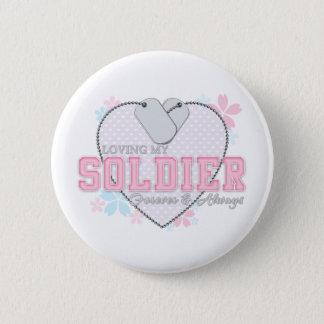 Loving My Soldier Button