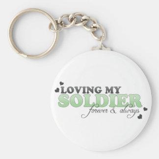 Loving my Soldier Key Chain