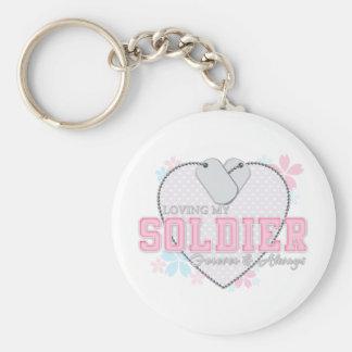 Loving My Soldier Keychain