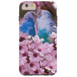 Loving Parakeets and Pink Flowers Tough iPhone 6 Plus Case