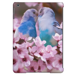 Loving Parakeets in Crabapple Tree iPad Air Cover