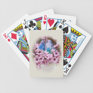 Loving Parakeets Playing Cards