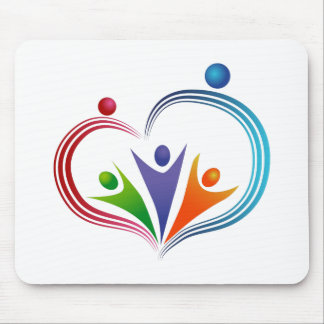 Loving People Icon Mouse Pad