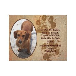 Loving Pet Memorial Photo Canvas