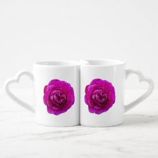 Loving Pink Rose Coffee Mug Set