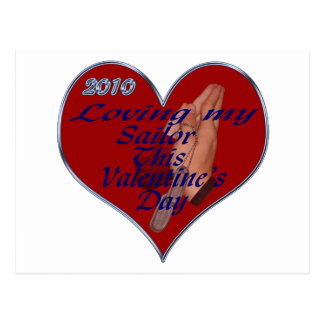 LOVING SAILOR VAL DAY TAGS POSTCARD