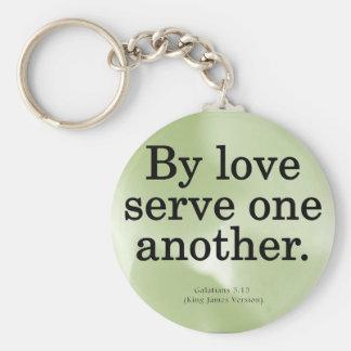 Loving Service Galatians 5-13 Keychain