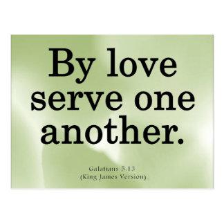 Loving Service Galatians 5-13 Postcard