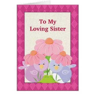 Loving Sister greeting card