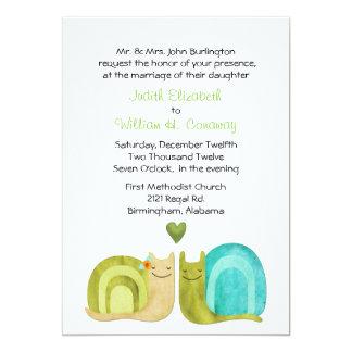 Loving Snails Wedding Invitation