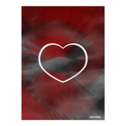 Loving Soaring Peace Red Poster- Cust.