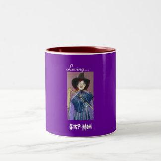 Loving..., Step-Mom Two-Tone Coffee Mug