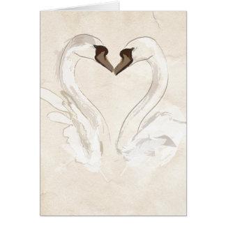 Loving swans card