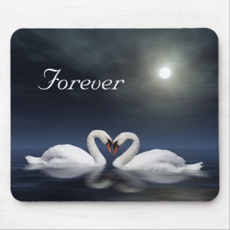 Loving swans mouse pad