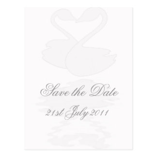 Loving Swans, Pink, Save the Date Postcard