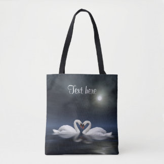 Loving swans tote bag