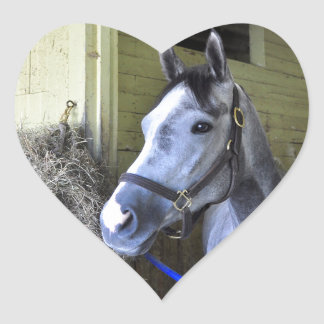 Loving the Backstretch at Belmont Heart Sticker