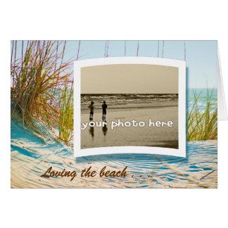Loving the beach greeting cards