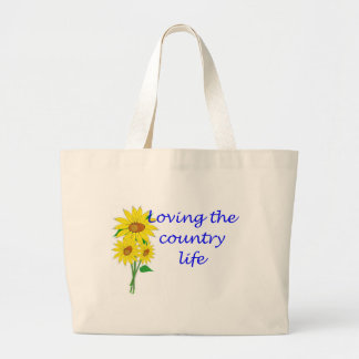 Loving the country life large tote bag