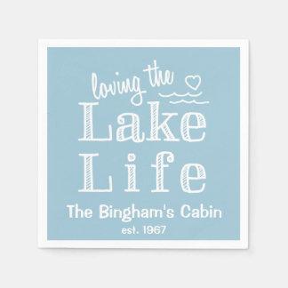Loving the Lake Life Customized Paper Napkin