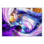 Loving Thoughts Abstract Stationery Note Card