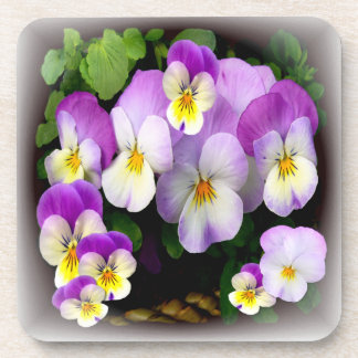 Loving Thoughts   -  Pansy Coasters # 2
