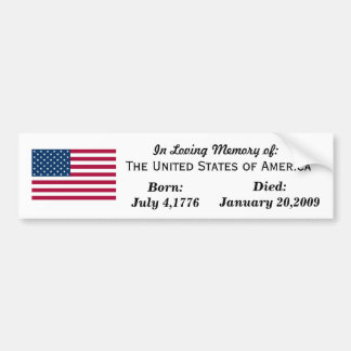 Loving tribute to the USA Bumper Sticker