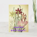[ Thumbnail: Loving Vintage Style Flowers Birthday Card ]
