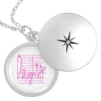 Loving Words for a Daughter Silver Plated Necklace