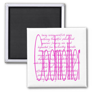 Loving Words for a Godmother 2 Inch Square Magnet